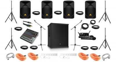4+1 PA Speakers Hire Pack - Behringer