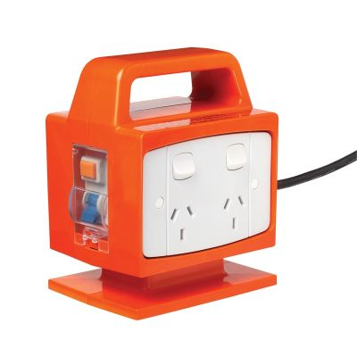 4 outlet RCD power block hire