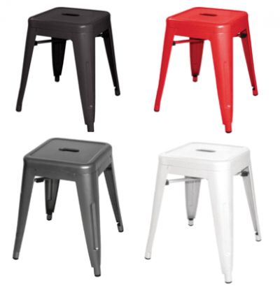 Low bistro stool chair hire