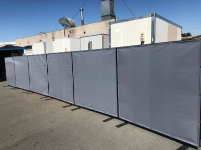 Partition hire - room divider - 1800mm grey