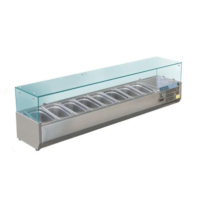 Cold Bain Marie Hire - 5x 1/2GN Trays 1.8m